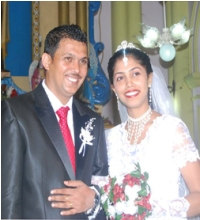 Congratulations to shalet and suraj on their wedding on 31-12-2010