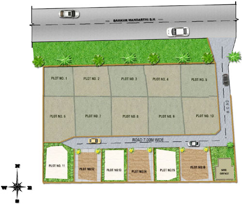 Single layout Sites for Sale at Rangankere between Barkur-Mandarthi State Highway