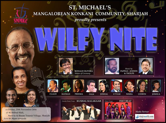 'WILFY NITE' BY SMMKC AT SHARJAH ON 25 NOVEMBER