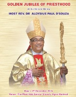 Golden Jubilee of Priesthood Bishop Rev Dr Aloysius Paul Dsouza