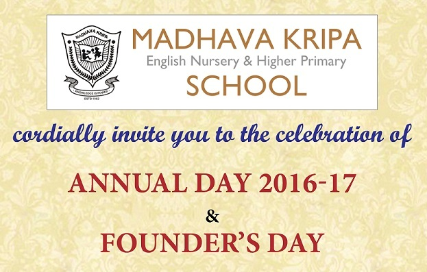 Madhava Kripa School - Annual Day Invitation & Bulletin