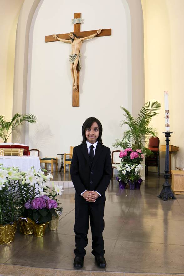 Congratulations on your First Holy Communion Dear Lucas.