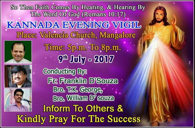 Kannada Evening Vigil by Fr. Frankline and Team in Mangalore.