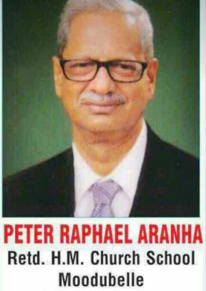 Obituary: Peter Raphael Aranha (Ex-Teacher), Moodubelle