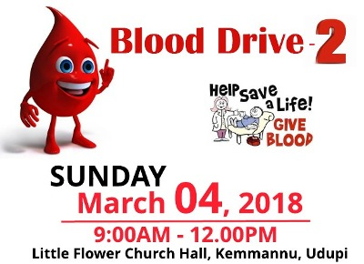 Blood Drive - 2 at Kemmannu on March 4.