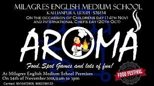 AROMA  Food Fest at Milagres High School on 14th Nov.