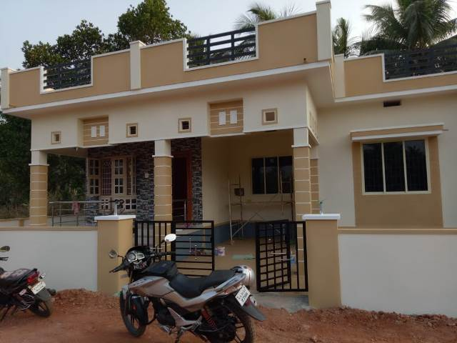 Newly constructed House for sale at Nejar near Santhekatte.