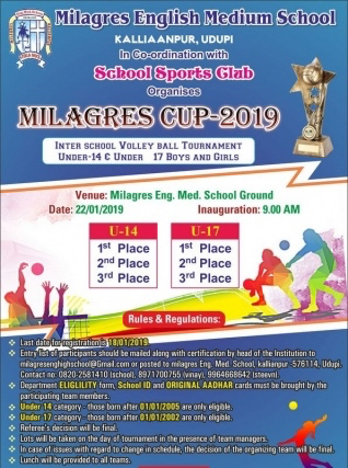 Milagres cup at Kallianpur on Jan 22nd.