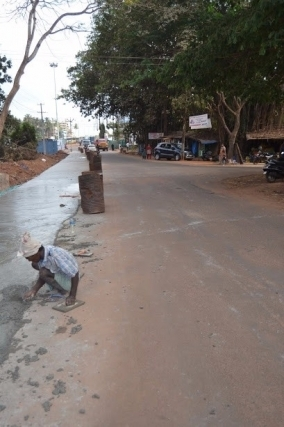 Kemmannu com | The road widening work began at Santhekatte NH 66 to