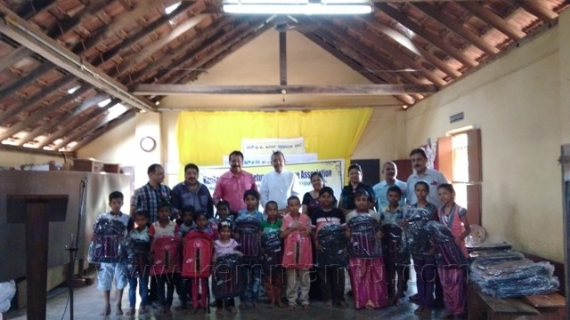 KORWA extends helping and distributes 650 school bags to needy children at Kallianpur-Udupi.