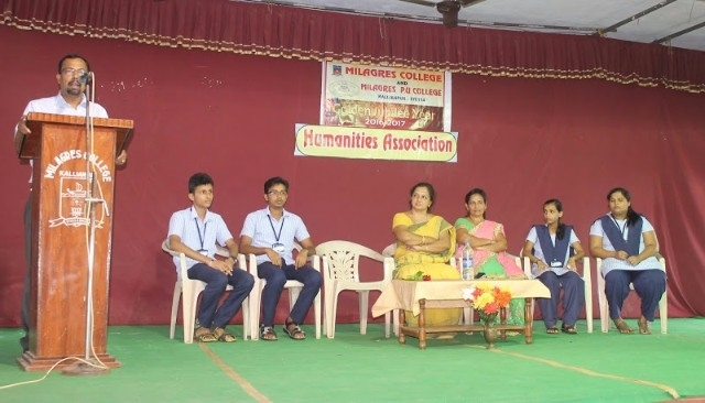 The inauguration of Humanities Association held at Milagres PU College, Kallianpur