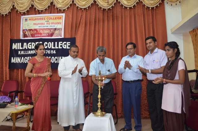 The inauguration of Management Association held at Milagres College, Kallianpur