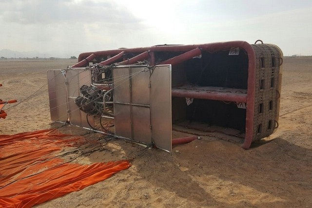Six tourists injured in hot air balloon crash in Sharjah