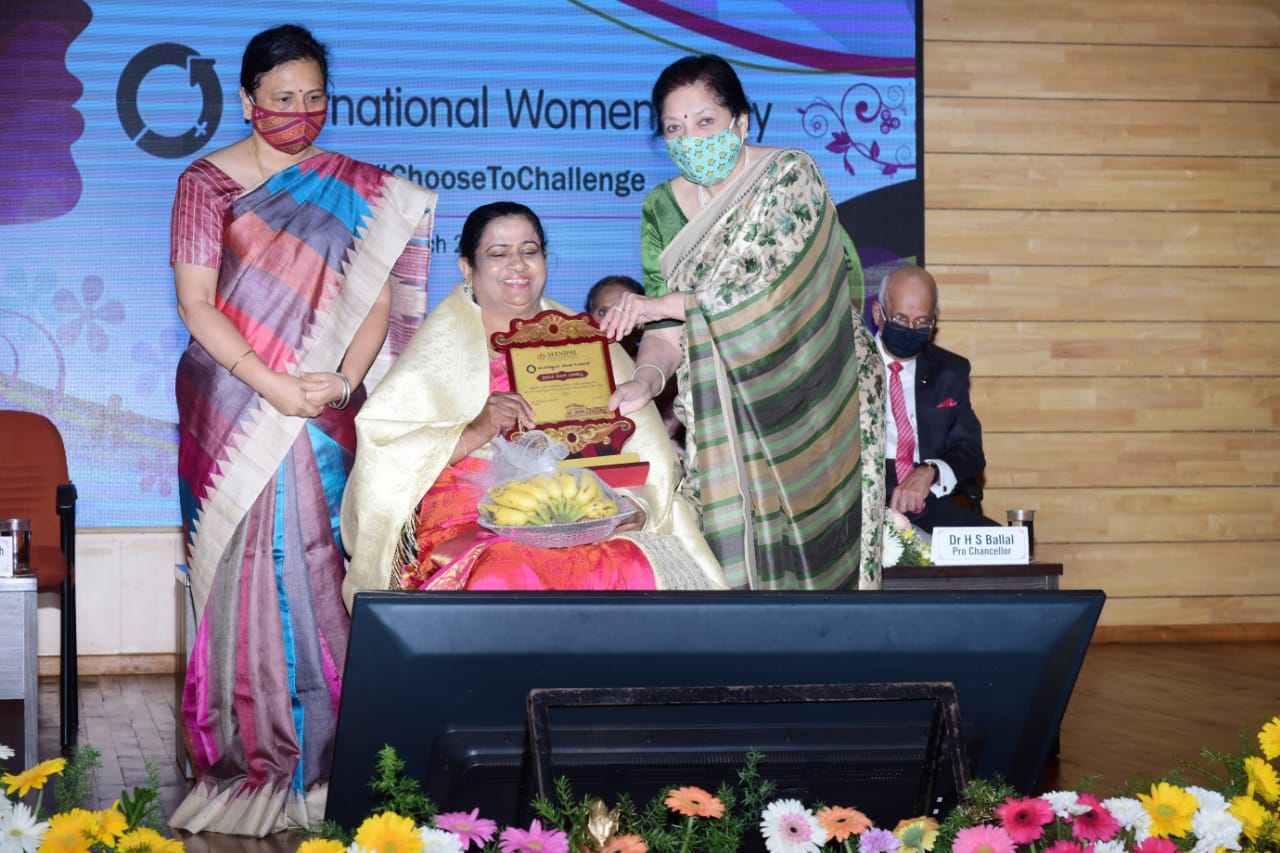 MAHE celebrated International Women's Day - MAHE felicitates Rosy Baretto of Kallianpur