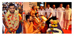 Udupi: Swami Vishwavallabha Theertha Gets Rousing Welcome at 'Pura Pravesha'