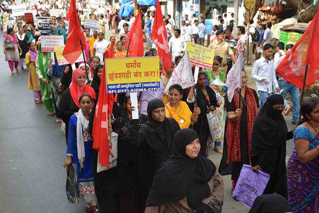 Various political party & an NGO activist participate in rally Mumbai Protest