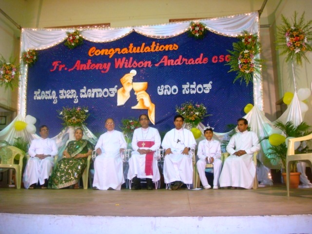 Photo Ablum:Brother Antony Wilson Andrade ordained as a priest in Kemmannu Church