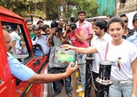 Actress Isha Sharvani supports Hanjer's 'Keep City Clean & Green' initiative for motorists on World Environment Day