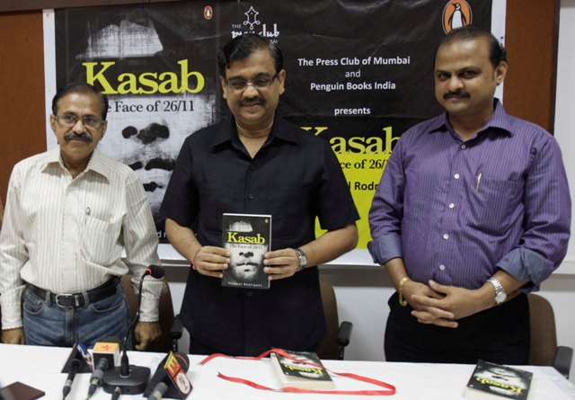 Public Prosecutor Ujwal Nikam along with author Rommel Rodrigues during book reading of Kasab the Face of 26/11 organised by The Press Club Mumbai