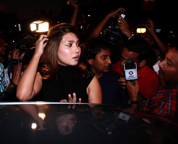 Bollywood actress Nupur Mehta  arrive to address press conference