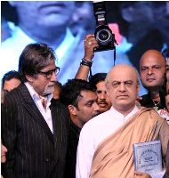 Bollywood actor Amitabh Bachchan unveil the wax statue of Dadasaheb Phalke