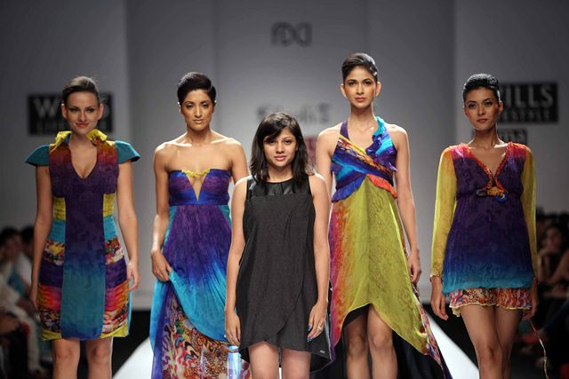 Khushi-Z-Under Water Life collection during Wills Lifestyle Fashion Week in Delhi.