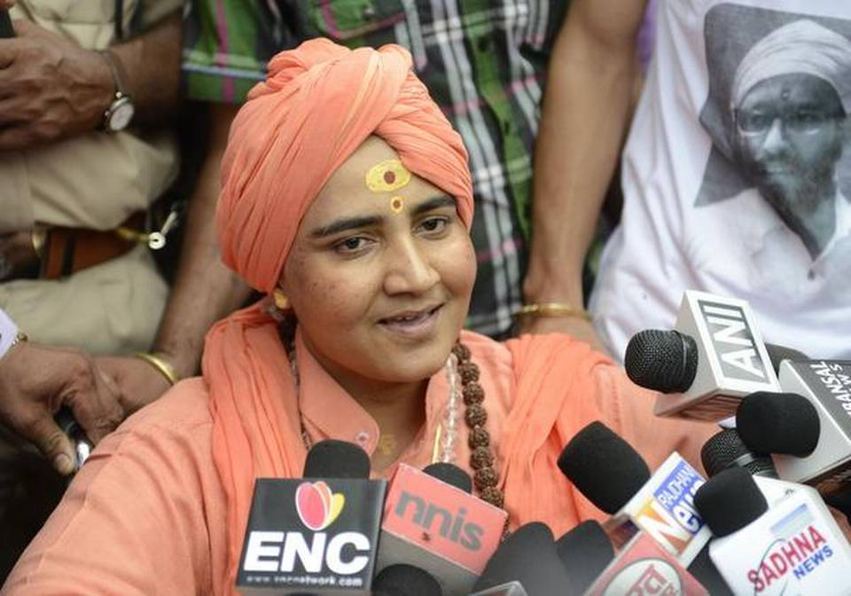 Plea to bar Sadhvi Pragya from contesting Lok Sabha poll
