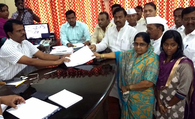 By-Elections:Files nomination for the Bandra(East)  and Tasgaon - Kawate Mahankal Assembly
