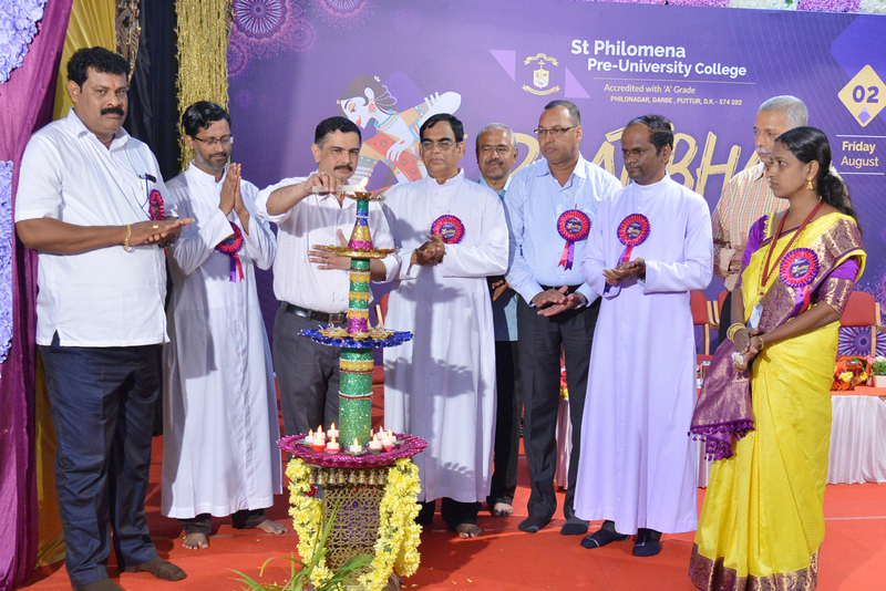 District level Interschool Pratibha competitions for High School students at St Philomena, Puttur