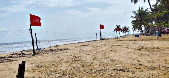 Visitors to Malpe beach cautioned against going into sea