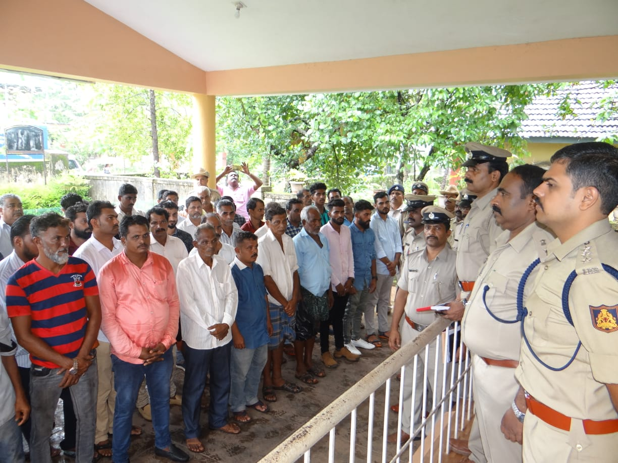 Udupi District Police hold parade of noted culprits' for cattle theft and trafficking