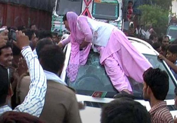 Teased by gunner, woman smashes local SP leader's Mercedes