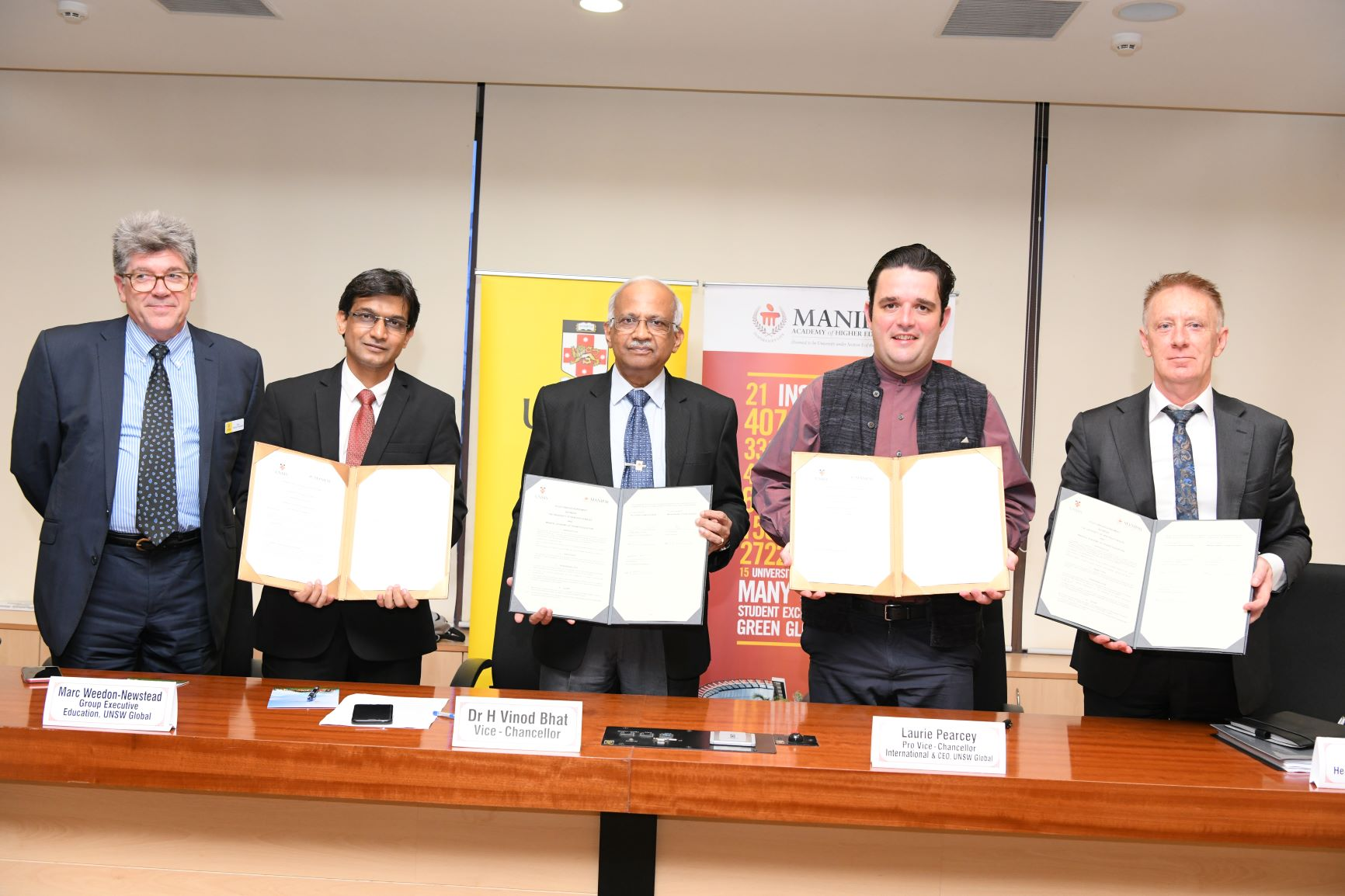 Landmark partnership between UNSW Sydney and MAHE Manipal