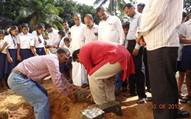 Kemmannu: MLA Pramodh Madhwaraj Lays Foundation Stone for Thonse Kandige School Kitchen