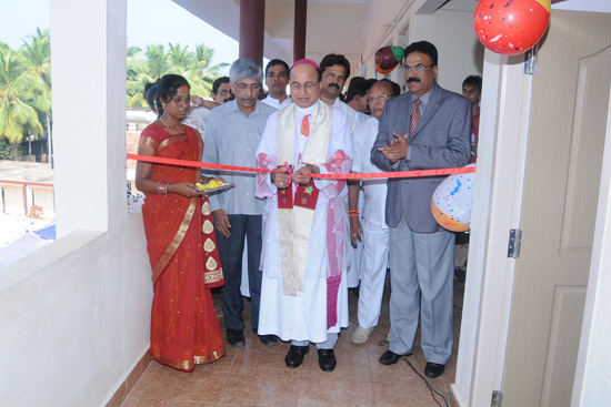 Shankerpura:St. John's Composite PU College New building was inaugurated and blessed by Most Rev. Dr. Gerald Isaac Lobo.