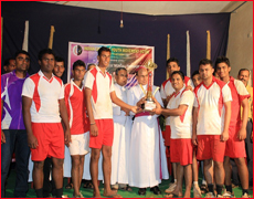Young Buds Belle and Udupi Parishes Lifts Udupi Diocese level Young Buds Trophy-2013 Volleyball and Throw ball  Tournament