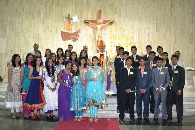 Confirmation ceremony of 172 youth was held at St. Joseph Church, Mira Road Mumbai