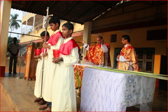 Palm Sunday observed at St Theresa Church Kemmannu