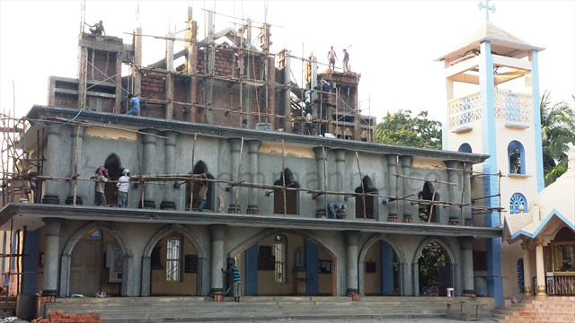 Work-in-progress @ Milagres Cathedral, Kallianpur