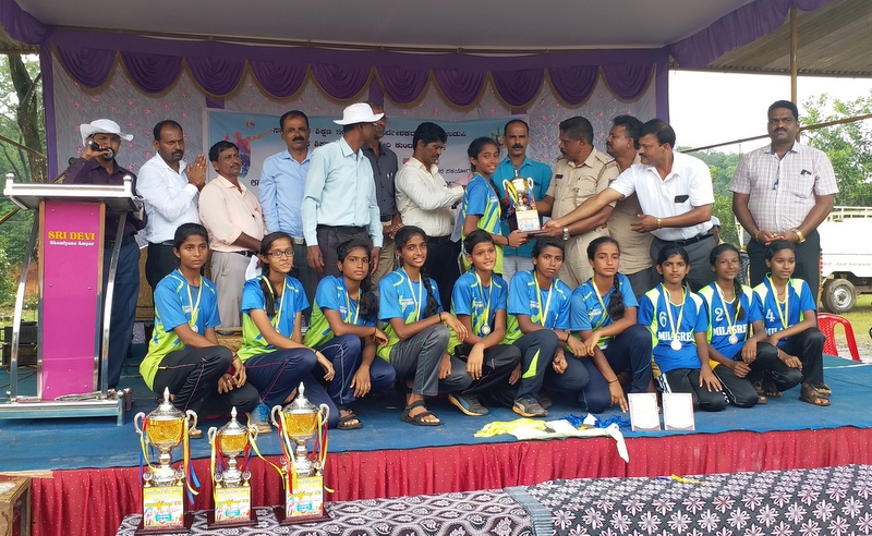 Milagres School U-17 Girls Volleyball Team makes a mark at State Level Dasara Event