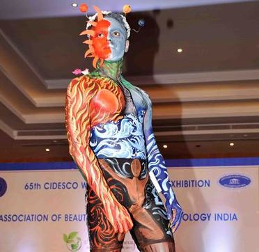 65th CIDESCO World Congress & Exhibition:Models are displaying their skill Body painting