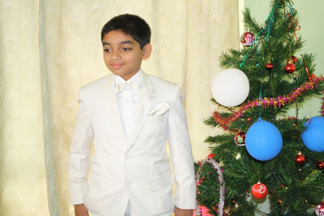 First holy communion of Allan Saldanha