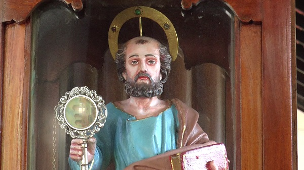 Miraculous wooden statue of St Peter the Apostle