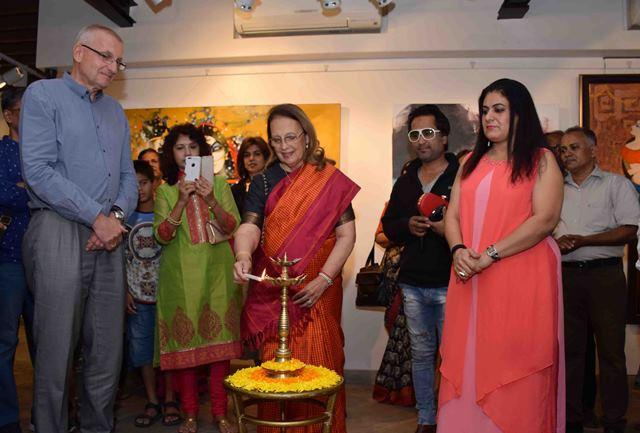 Dr. Firoza J. Godrej, inaugurted the exhibition of