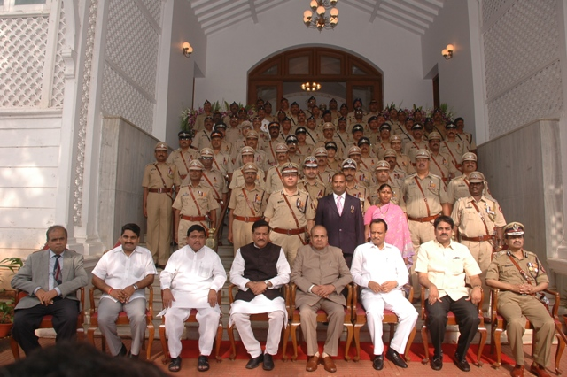 Governor Sankaranarayanan confers President's Police Medals on 69 Police Officers
