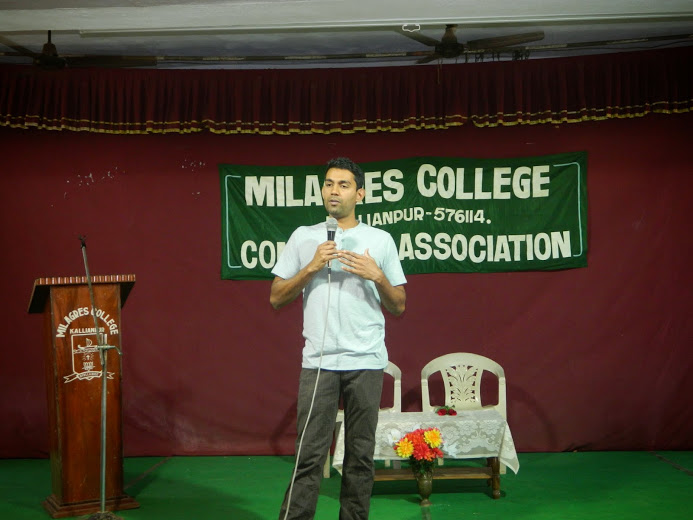 Guest Lecture on U. S. Financial Markets at Milagres College, Kallianpur