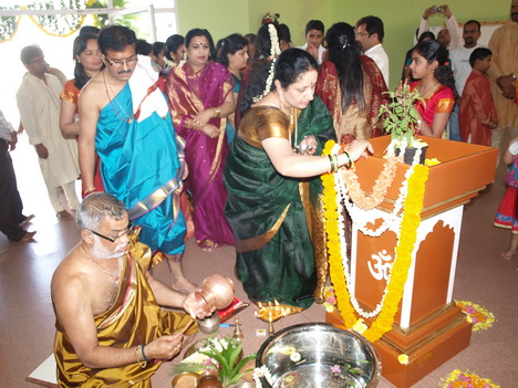 Samoohika Shri Satyanarayana Pooja at JSS School Dubai Concluded With Great Devotion