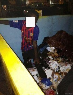Boy found living in garbage bin in Saudi