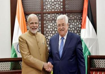 Abbas seeks India's role in peace process as PM Modi visits Palestine