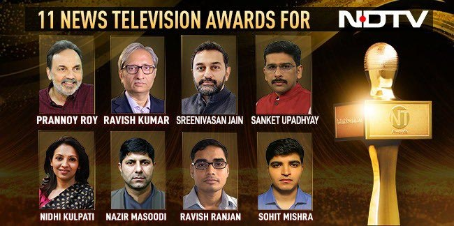 NDTV Wins 11 Huge Awards, Real Journalism Recognised